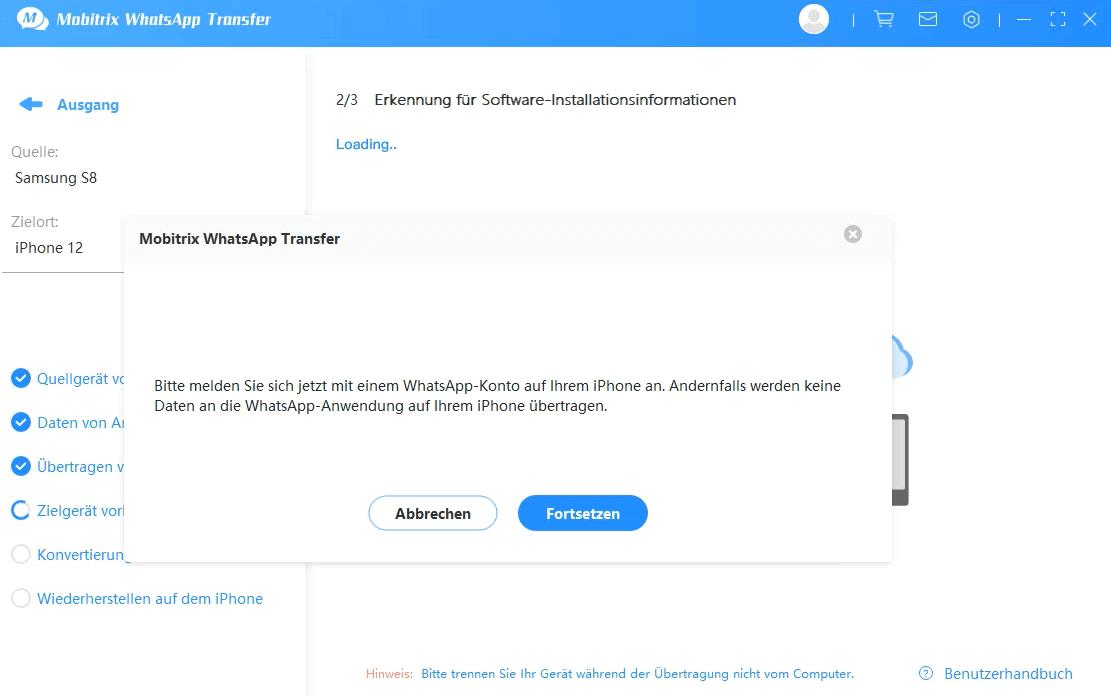 log into whatsapp