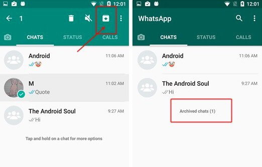 archive whatsapp chats android