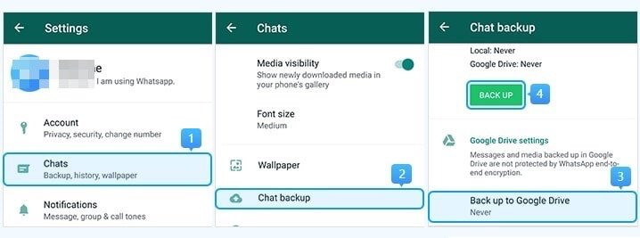 backup whatsapp to local storage