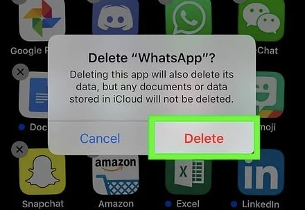 delete whatspp iphone