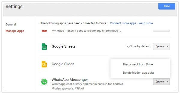 discount whatsapp from google drive