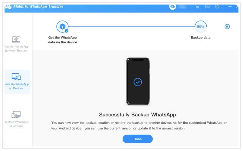 complete to backup whatsapp