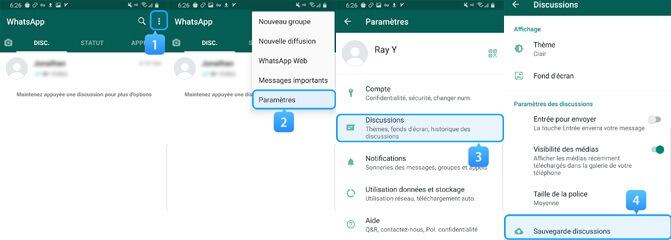 whatsapp backup chats